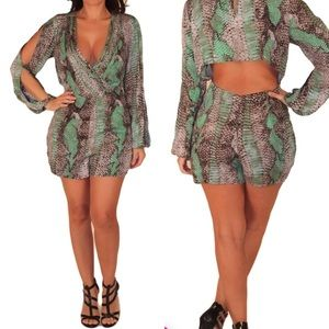Ark & Co. Snake Print Romper